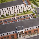One London Road Newcastle student accommodation aerial view