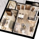The Tannery Liverpool 1 bed apartment layout