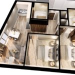 The Tannery Liverpool 2 bed apartment layout