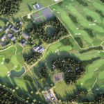 Halcyon retreat aerial view of golf course