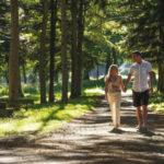 Halcyon retreat couple walking