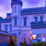 Stradey Park Hotel exterior by night