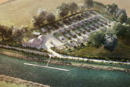 Luxury lodge investment UK The Hideaway aerial view