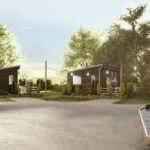 Luxury lodge investment UK The Hideaway lodges corner view