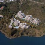 Marbella Lake apartments Nueva Andalucia aerial views