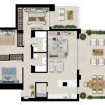Marbella Lake apartments Nueva Andalucia apartment plan BAJA