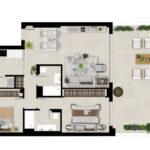 Marbella Lake apartments Nueva Andalucia apartment plan PRIMERA