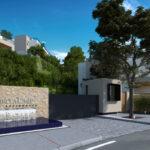 Marbella Lake apartments Nueva Andalucia entrance
