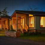 Silverwood Lodges Scotland lodges investment - park at night